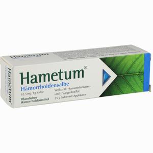 Abbildung von Hametum Hämorrhoidensalbe  25 g