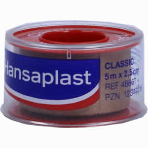 Abbildung von Hansaplast Fixierpflaster Classic 5mx2.5cm Schub  1 Stück