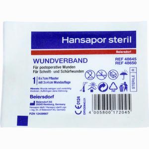 Abbildung von Hansapor Steril Wundverband 6x7cm - Einzelpackung  1 Stück