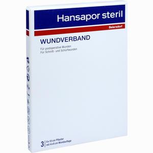 Abbildung von Hansapor Steril Wundverband 8x10cm 3er Pack  3 Stück