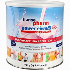 Abbildung von Hansepharm Power Eiweiß Plus Himbeere- Vanille Pulver 750 g