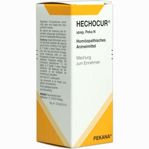 Abbildung von Hechocur Spag. Peka N Tropfen 50 ml