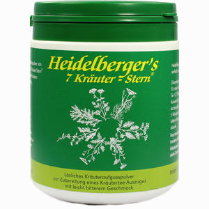 Abbildung von Heidelbergers 7 Kräuter Stern Tee 250 g