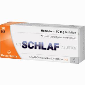 Abbildung von Hemodorm 50mg Einschlaf- Tabletten  20 Stück