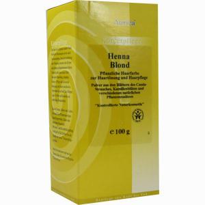 Abbildung von Henna Blond Pflanzliche Haarfarbe 100 g