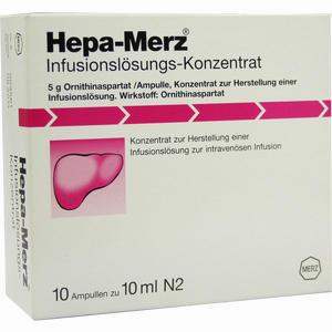 Abbildung von Hepa Merz Infusionslösungs- Konzentrat Infusionslösungskonzentrat 10 x 10 ml
