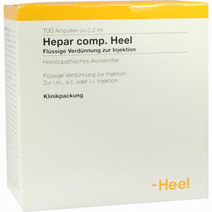 Abbildung von Hepar Comp. Heel Ampullen 100 Stück