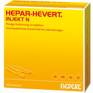 Abbildung von Hepar Hevert Injekt N Ampullen 100 Stück