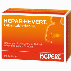 Abbildung von Hepar- Hevert Lebertabletten Sl  100 Stück