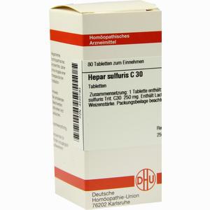 Abbildung von Hepar Sulfuris C30 Tabletten 80 Stück