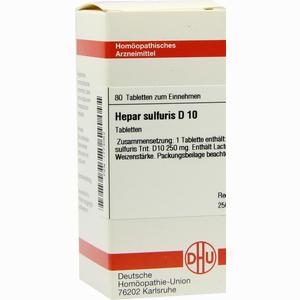 Abbildung von Hepar Sulfuris D10 Tabletten 80 Stück