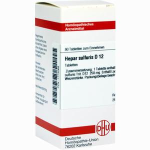 Abbildung von Hepar Sulfuris D12 Tabletten 80 Stück