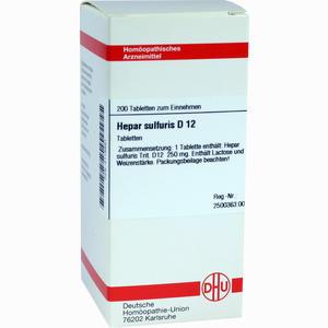 Abbildung von Hepar Sulfuris D12 Tabletten 200 Stück