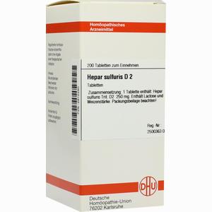 Abbildung von Hepar Sulfuris D2 Tabletten 200 Stück