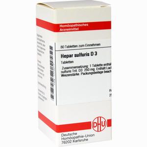 Abbildung von Hepar Sulfuris D3 Tabletten 80 Stück