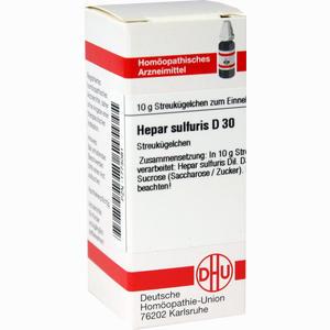 Abbildung von Hepar Sulfuris D30 Globuli 10 g