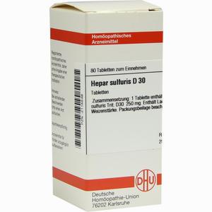 Abbildung von Hepar Sulfuris D30 Tabletten 80 Stück