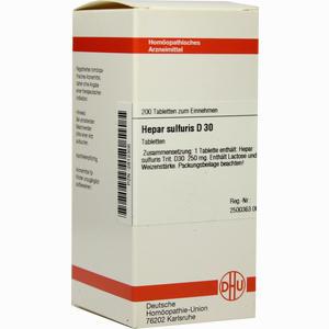 Abbildung von Hepar Sulfuris D30 Tabletten 200 Stück