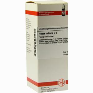 Abbildung von Hepar Sulfuris D6 Dilution 50 ml