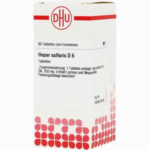 Abbildung von Hepar Sulfuris D6 Tabletten 80 Stück