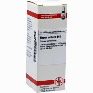 Abbildung von Hepar Sulfuris D8 Dilution Dhu-arzneimittel 20 ml