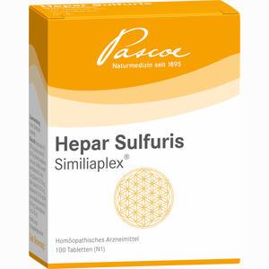 Abbildung von Hepar Sulfuris Similiaplex Tabletten 100 Stück