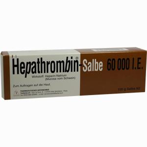 Abbildung von Hepathrombin 60000 Salbe  100 g
