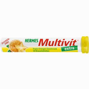 Abbildung von Hermes Multivit Extra Tropic- Orangen- Geschmack Brausetabletten 20 Stück