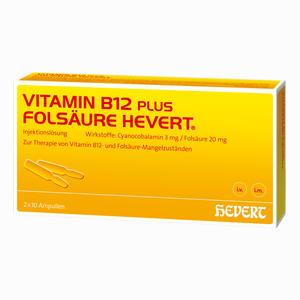 Abbildung von Hevert Vitamin B12 + Folsäure Ampullen  10 x 2 ml