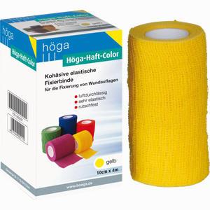 Abbildung von Höga- Haft- Color 10cm X 4m Gelb Binde 1 Stück
