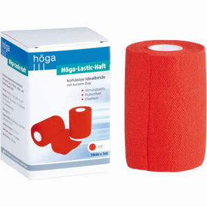 Abbildung von Höga- Lastic- Haft Rot 10cmx5m Binde 1 Stück