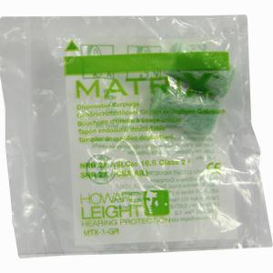 Abbildung von Howard Leight Matrix Grün Gehörschutzstöpsel 2 Stück