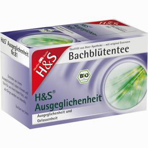 Abbildung von H&s Bachblüten Ausgeglichenheits- Tee Filterbeutel 20 Stück