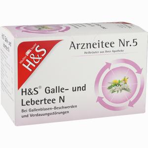 Abbildung von H&s Galle- und Lebertee N Filterbeutel 20 Stück