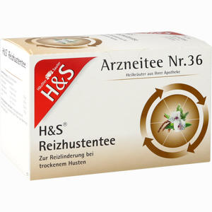 Abbildung von H&s Reizhustentee Filterbeutel 20 Stück