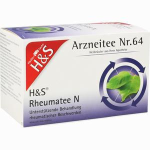 Abbildung von H&s Rheumatee N Filterbeutel 20 x 2.0 g