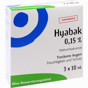 Abbildung von Hyabak Augentropfen 3 x 10 ml