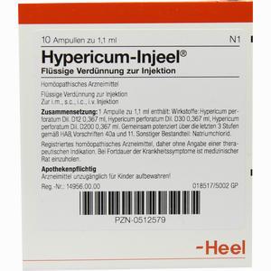 Abbildung von Hypericum Inj Ampullen 10 Stück