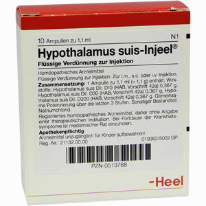 Abbildung von Hypothalamus Suis- Injeel Ampullen  10 Stück