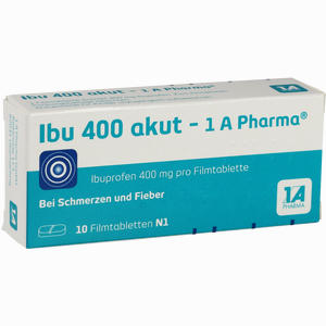 Abbildung von Ibu 400 Akut - 1a Pharma Filmtabletten 10 Stück