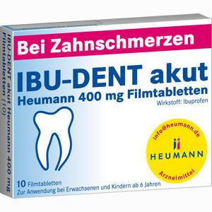 Abbildung von Ibu- Dent Akut Heumann 400 Mg Filmtabletten  10 Stück