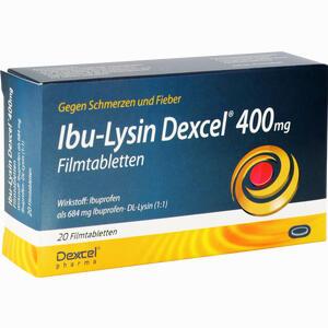 Abbildung von Ibu- Lysin Dexcel 400 Mg Filmtabletten  20 Stück