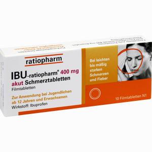 Abbildung von Ibu- Ratiopharm 400 Akut Schmerztabletten 10 Stück