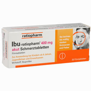 Abbildung von Ibu- Ratiopharm 400 Akut Schmerztabletten 20 Stück