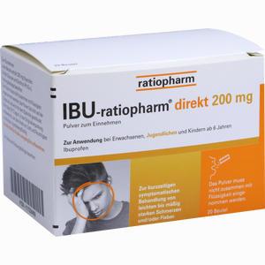 Abbildung von Ibu- Ratiopharm Direkt 200 Mg Pulver Zum Einnehmen 20 Stück