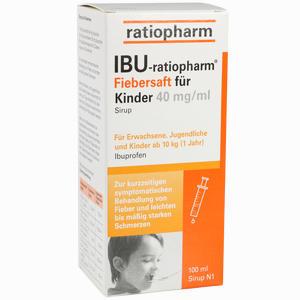 Abbildung von Ibu- Ratiopharm Saft 4% Fiebersaft für Kinder  100 ml