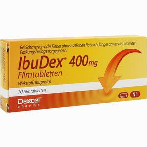Abbildung von Ibudex 400mg Filmtabletten 10 Stück