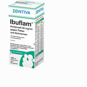 Abbildung von Ibuflam Kindersaft 2% gegen Fieber und Schmerzen Suspension 100 ml