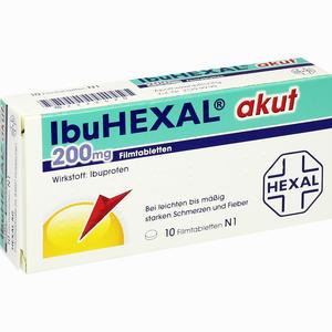 Abbildung von Ibuhexal Akut 200 Filmtabletten 10 Stück