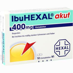 Abbildung von Ibuhexal Akut 400 Filmtabletten 10 Stück